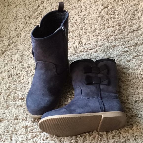 navy blue girls boots